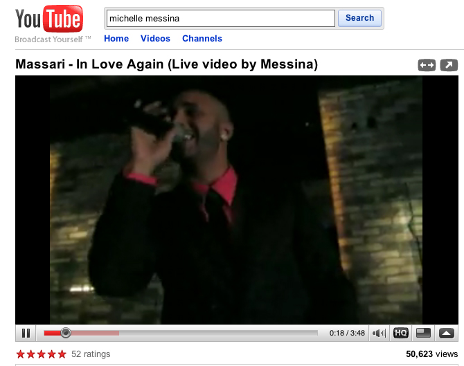 Massari - In Love Again - video by: Michelle Messina breaks 50,000 hits