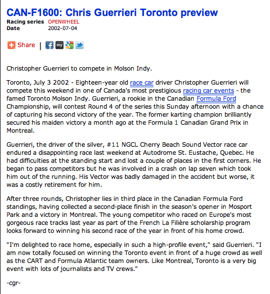 Chris Guerrieri News