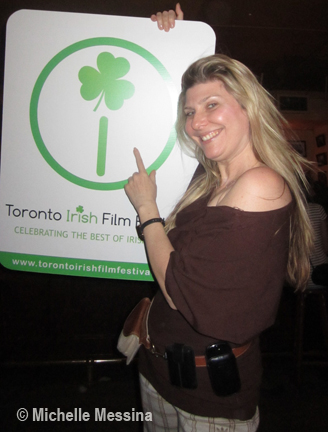 Irish Film Festival opening Gala The Irish Pub After TV interview Michelle Messina attends