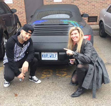 Karl Wolf and Michelle Messina