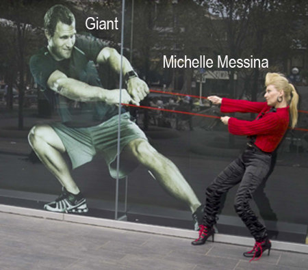 Michelle Messina Wins Battle Giant