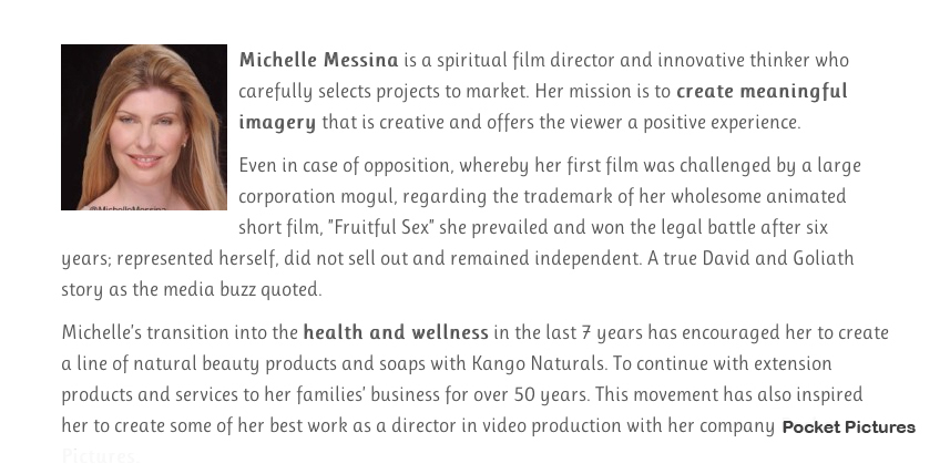 MichelleMessina Film director selection for Leading Light Intro