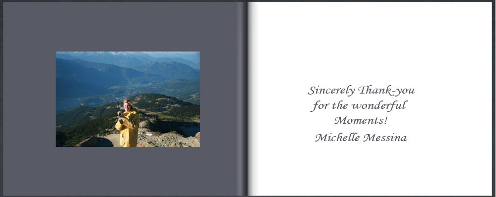 Michelle Messina Photography Table Book Thank-you