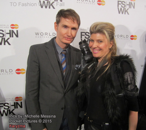 David Dixon and Michelle Messina Fashion Week